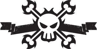 Pirate Skull and Crossbones Stock Photography