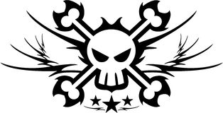 Pirate Skull and Crossbones Stock Images