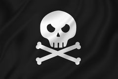 Pirate skull with crossed bones. Stock Photo