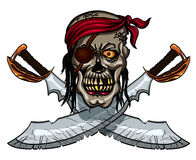 Pirate skull and crossed swords Royalty Free Stock Photos