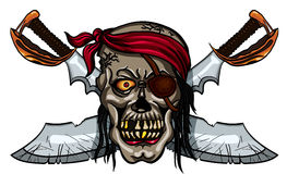 Pirate skull and crossed swords Stock Image