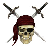 Pirate Skull with Daggers Stock Image