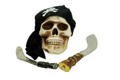 Pirate skull and daggers Stock Images