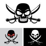 Pirate skull flag symbol Stock Photography