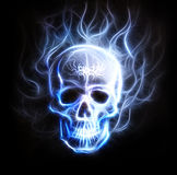 Pirate skull fractal ornament background airbrush Stock Photography