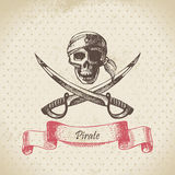 Pirate skull Royalty Free Stock Image