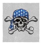 Pirate Skull. Hand drawn. Vector eps8 Royalty Free Stock Image