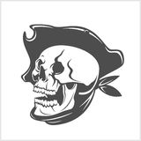 Pirate Skull and hat Royalty Free Stock Image