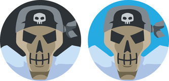 Pirate Skull icon Royalty Free Stock Photos