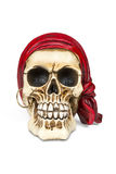 Pirate skull. Isolated over white with clipping path stock photography