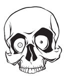 Pirate skull isolated on white background Royalty Free Stock Photo