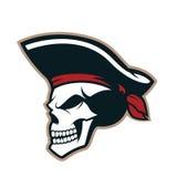 Pirate skull mascot Stock Image