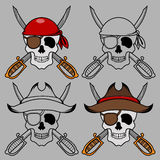 Pirate skull mascot Royalty Free Stock Photography