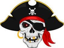 Pirate skull mascot. Vector illustration of Pirate skull mascot Royalty Free Stock Images