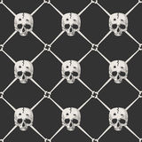 Pirate skull pattern Stock Images