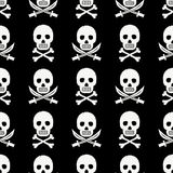 Pirate skull pattern Royalty Free Stock Photos