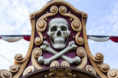Pirate skull. In a pirates ship Royalty Free Stock Photography