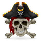 Pirate skull Stock Photos