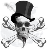 The pirate skull - and ship Stock Image