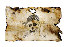 Pirate Skull with swords Royalty Free Stock Photo