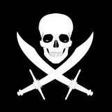 Pirate skull with swords Stock Photos
