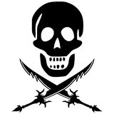 Pirate skull with swords Stock Photography