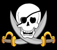 Pirate skull theme 3 Royalty Free Stock Photos