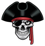 Pirate skull Royalty Free Stock Images