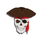 Pirate skull Stock Image