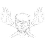 Pirate skull Royalty Free Stock Image