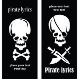 Pirate skulls. Set of two postcard with skulls Royalty Free Stock Photography