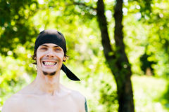 Pirate with a smile. Portrait of a smiling man Royalty Free Stock Photography