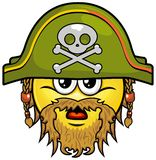 Pirate smiley 05 Royalty Free Stock Images