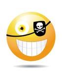 Pirate Smiley on white Royalty Free Stock Photos