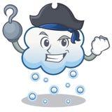 Pirate snow cloud character cartoon Stock Photography