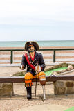 Pirate statue on the beach Stock Photos