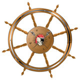 Pirate steering wheel. Pirate ship steering wheel with pirate skull Stock Photography