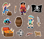 Pirate stickers Royalty Free Stock Photo