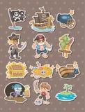 Pirate stickers Stock Photo
