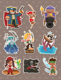 Pirate stickers Royalty Free Stock Images