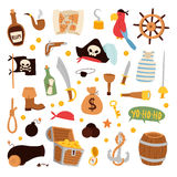Pirate stickers icons vector. Royalty Free Stock Image
