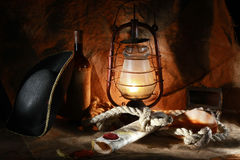 Pirate of the still life Royalty Free Stock Images