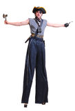 Pirate on stilts Stock Images
