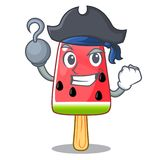 Pirate summer watermelon the ice shaped cartoon stock illustration