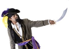 Pirate with sword Royalty Free Stock Photos