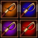 Pirate sword Royalty Free Stock Photos
