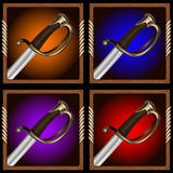 Pirate sword Stock Photography