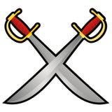 Pirate swords Royalty Free Stock Photos