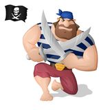A pirate with the swords Royalty Free Stock Photos