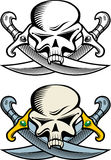 Pirate symbol. With skull and daggers Royalty Free Stock Photography